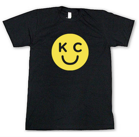 KC SMILEY T-SHIRT - CHARCOAL
