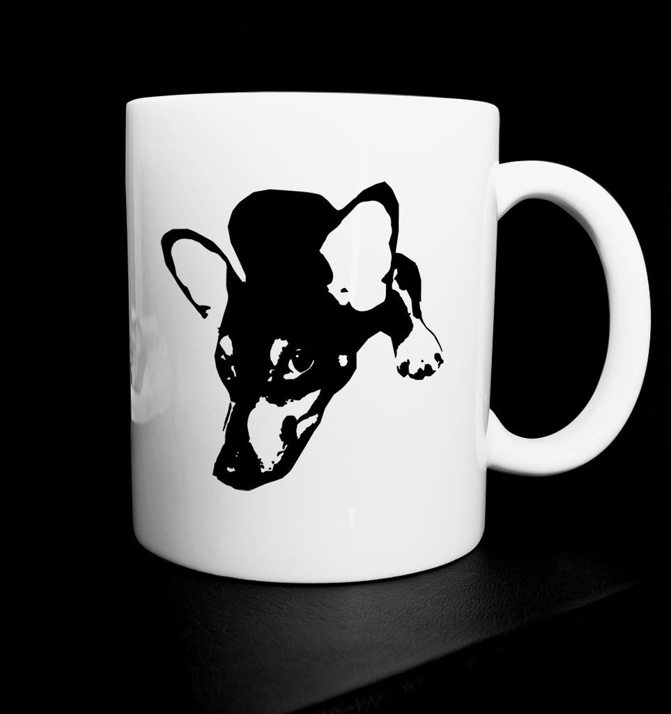DOG TOY TERRIER 11OZ CERAMIC MUG GET2WEAR BLACK WHITE