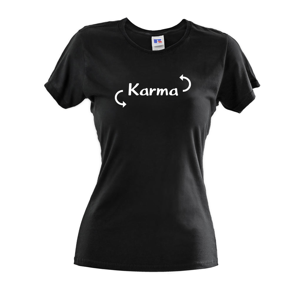 KARMA WOMENS  SOFT COTTON T-SHIRT - Get2wear