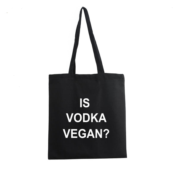 IS VODKA VEGAN COTTON SHOULDER SHOPPING PROMO TOTE BAG - Get2wear