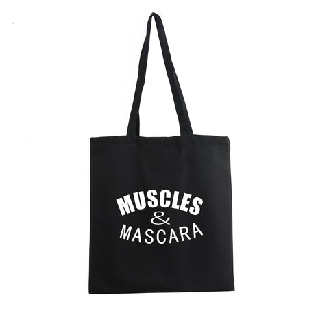 MUSCLES AND MASCARA TOTE BAG - Get2wear