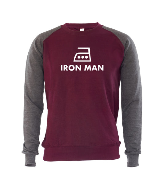 IRON MAN Mens Jumper Sweatshirt Funny Humour Cool Saying Quote Sweaters Gift