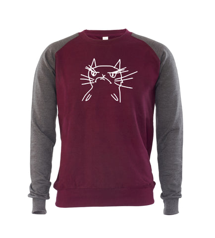 Angry Cat Mens Sweatshirt Jumper