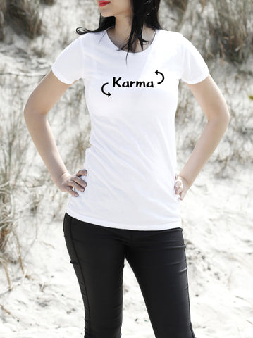KARMA WOMEN'S ORGANIC COTTON T-SHIRT - Get2wear