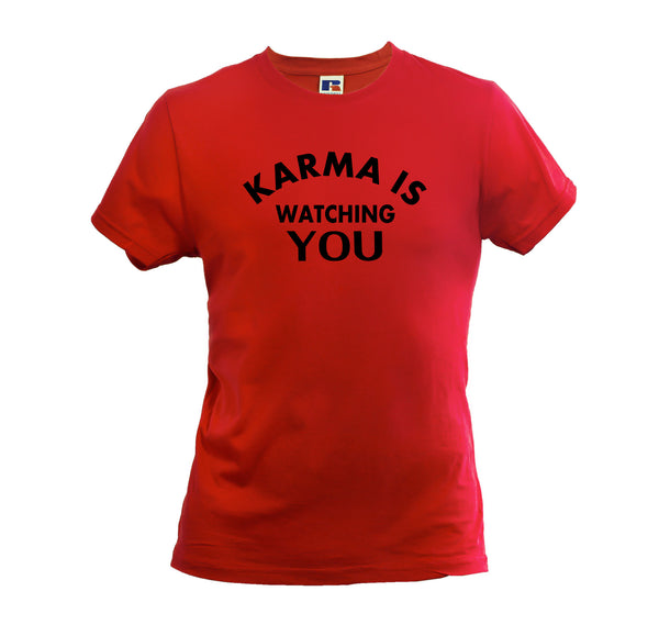 KARMA IS WATCHING YOU MEN'S SOFT T-SHIRT