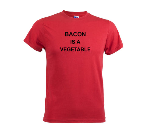 Bacon Is A Vegetable Men's Soft Touch T-shirt red tee