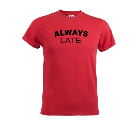 Always Late Men's Soft Touch Red T-shirt get2wear top