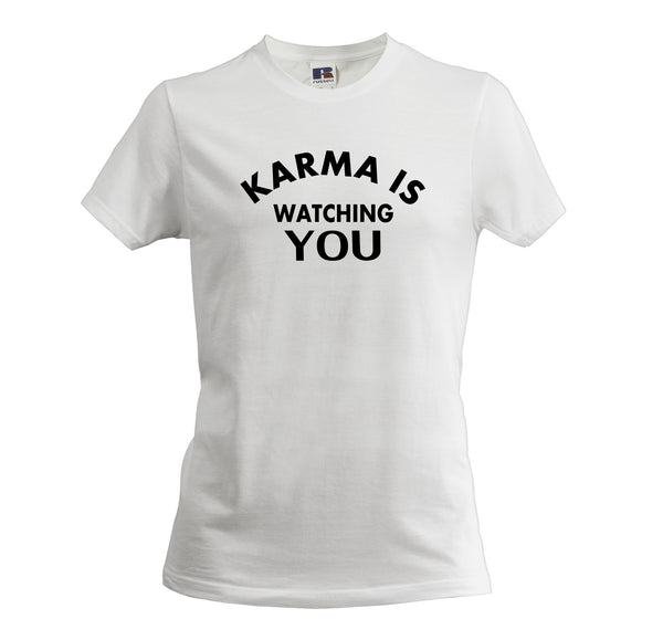 KARMA IS WATCHING YOU MEN'S SOFT T-SHIRT - Get2wear