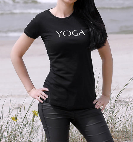 YOGA WOMEN'S T SHIRT SLIM FIT ORGANIC COTTON