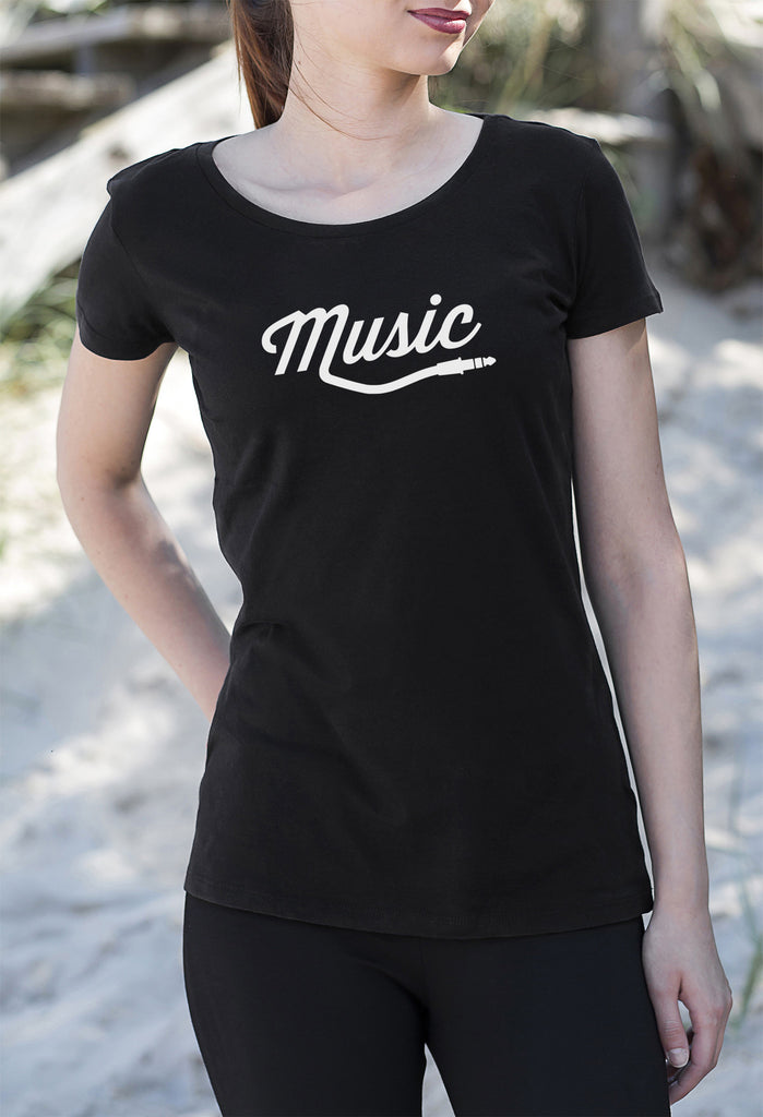 Music Style Women's Ladies T-Shirt tshirt get2wear rap hiphop pop rock electro design black