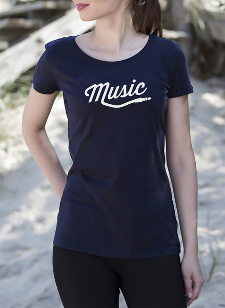 Music Style Women's Ladies T-Shirt tshirt get2wear rap hiphop pop rock electro design navy