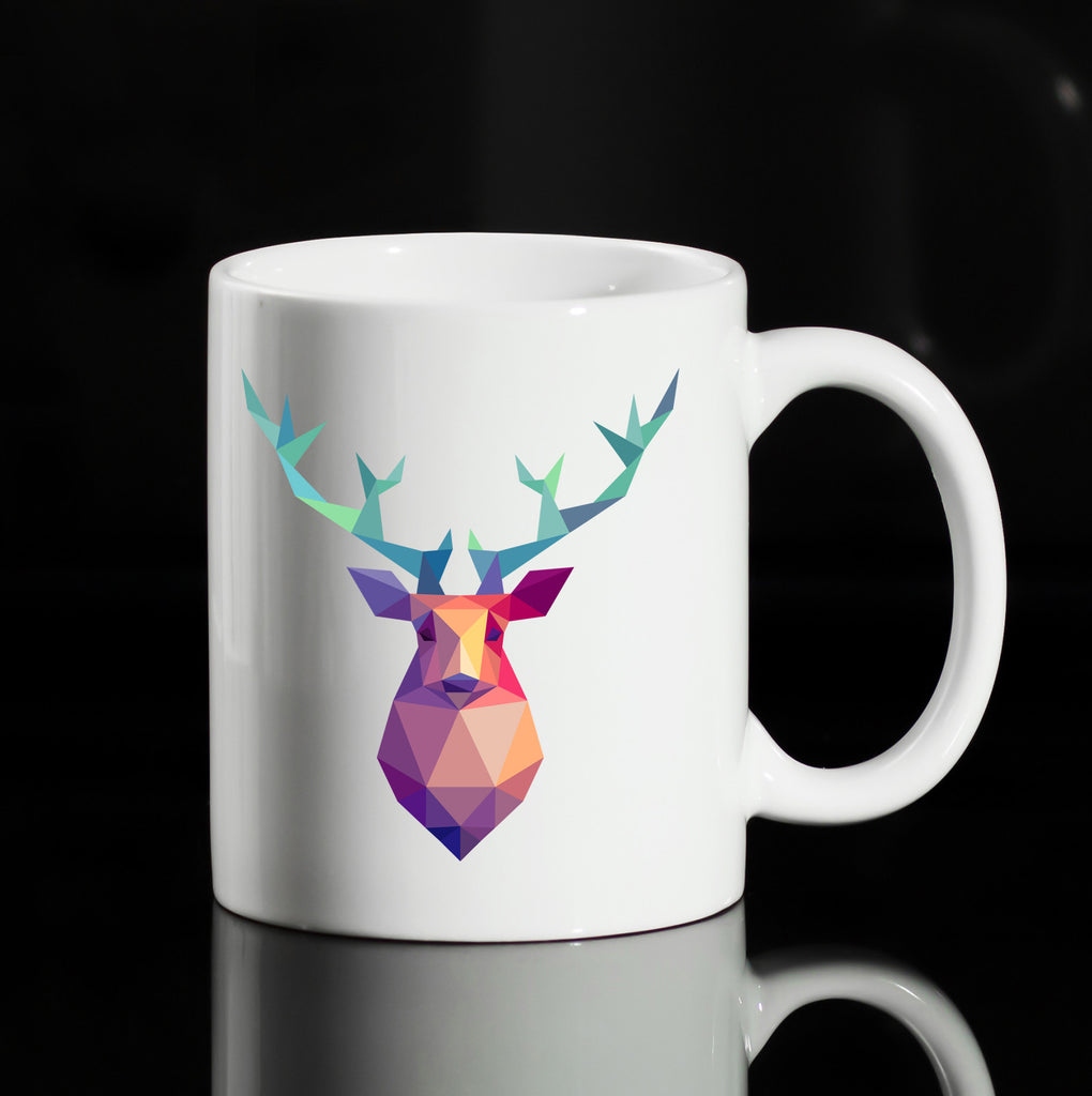 COLORED CHRISTMAS DEER 11OZ CERAMIC MUG PRESENT GIFT GET2WEAR