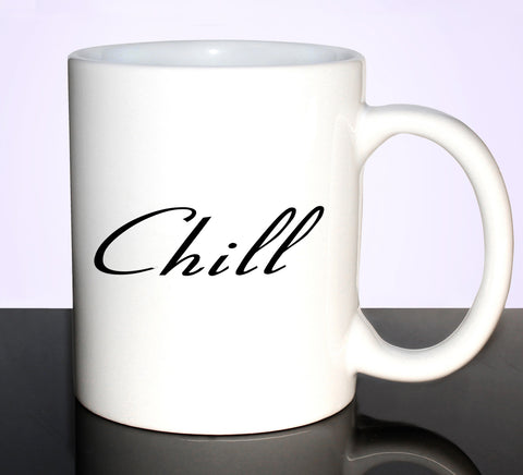 CHILL 11OZ CERAMIC MUG RELAX GET2WEAR CUTE WHITE CUP