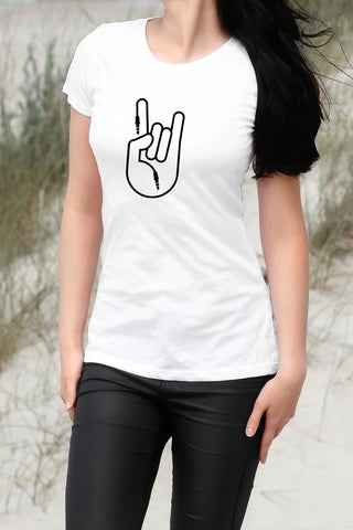ROCK HAND WOMEN'S T SHIRT SLIM FIT ORGANIC COTTON - Get2wear