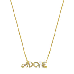 Pavé Logo Necklace - Crystal/Gold Plated