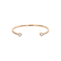 Skinny Pavé & Stone Bangle - Crystals/Rose Gold Plated