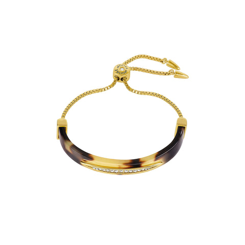 Half Cuff Bracelet - Crystal/Gold Plated
