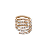 Pavé Coil Ring - Crystal/Rose Gold Plated