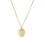 Scattered Crystal Necklace - Crystal/Gold Plated