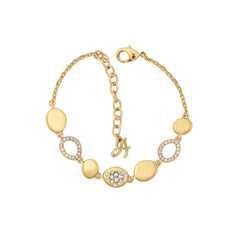 Scattered Crystal Station Bracelet - Crystal/Gold Plated