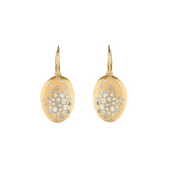 Scattered Crystal French Wire Earrings - Crystal/Gold Plated