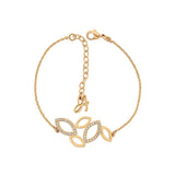 Open Petal Bracelet - Crystal/Gold Plated