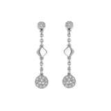 Pavé & Metal Post Earring - Crystal/Rhodium Plated