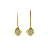 Pavé & Metal French Wire Earring - Crystal/Gold Plated