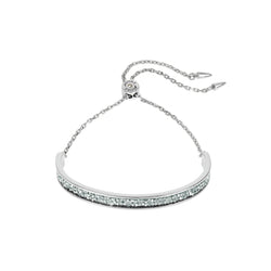 Ultra Fine Rock Slide Bracelet - Crystal/Rhodium Plated