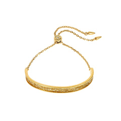 Ultra Fine Rock Slide Bracelet - Gold Crystal/Gold Plated