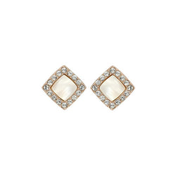 04b8243b2b8b8 Resin & Pavé Post Earrings - Crystal/Rose Gold Plated