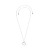 Organic Circle Long Necklace - Crystal/Rhodium Plated