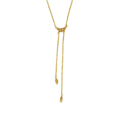 Pavé Swoop Y-Necklace - Light Colorado Topaz/Gold Plated