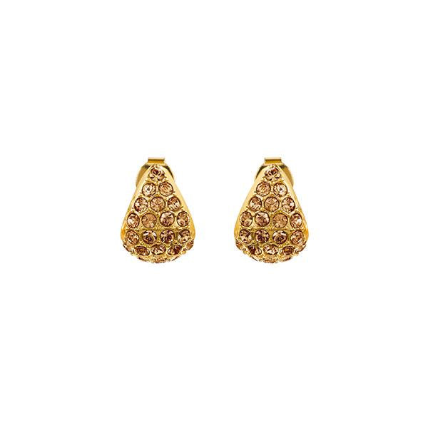 Pavé Triangle Earrings - Light Colorado Topaz/Gold Plated