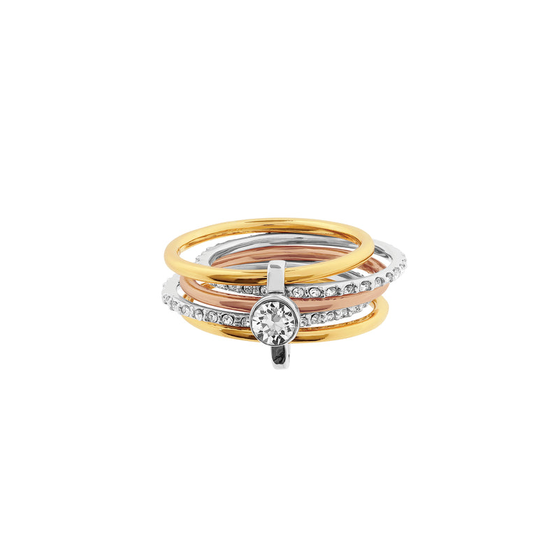 Interlocking Ring - Crystal/Rhodium/Gold/Rose Gold Plated