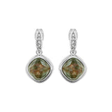 MOP Doublet Earring - Crystal/Rhodium Plated