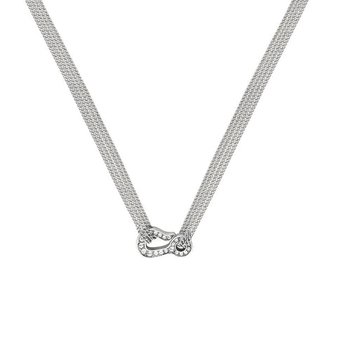 Pavé Hook Necklace - Crystal/Rhodium Plated