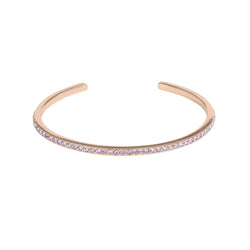 Skinny Pavé Bangle - Violet/Rose Gold Plated