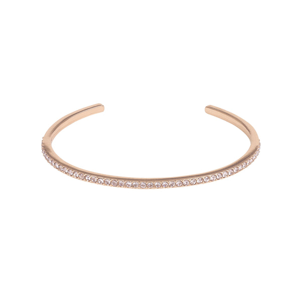 Skinny Pavé Bangle - Vintage Rose/Rose Gold Plated