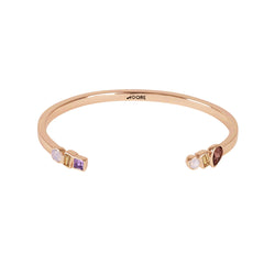 Mixed Crystal Cuff - Pink Multi/Rose Gold Plated
