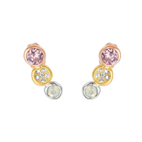 Adore Naturale Organic Circle Tri-tone Stud Earrings Detail