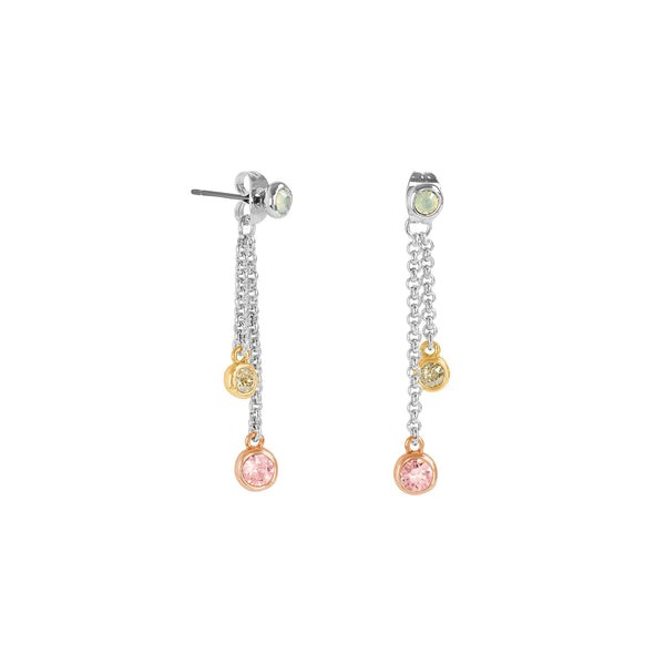 Adore Naturale Organic Circle Tri-tone Drop Earrings Detail