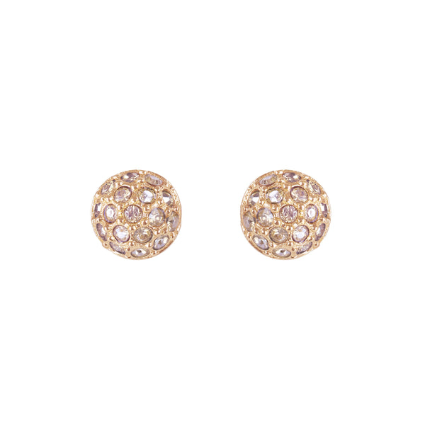 Rose Gold Adore Natural Mini Organic Circle Studs Detail