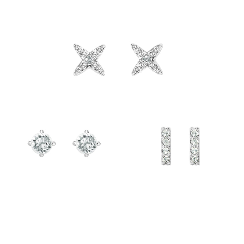 Earrings Box Set - Crystal/Rhodium Plated