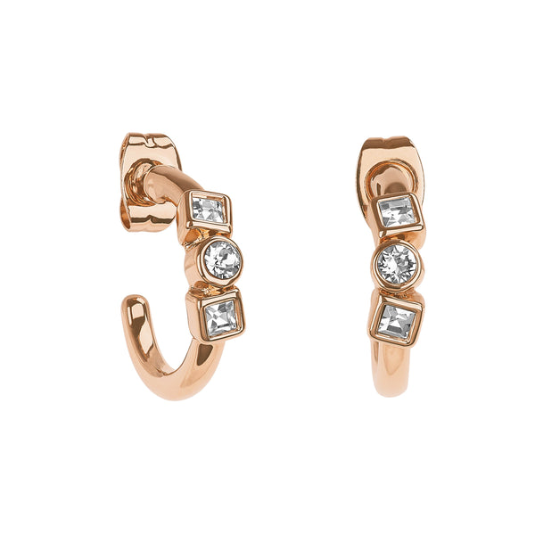 Adore Brilliance Mixed Crystal Mini Hoops Detail