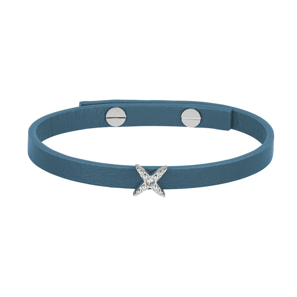 Adore Elegance 4 Point Star Leather Bracelet Detail