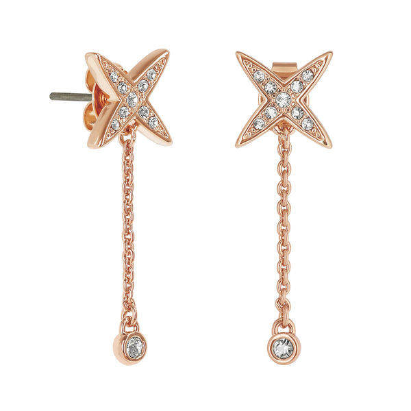 Adore Elegance 4 Point Star Drop Earrings Detail