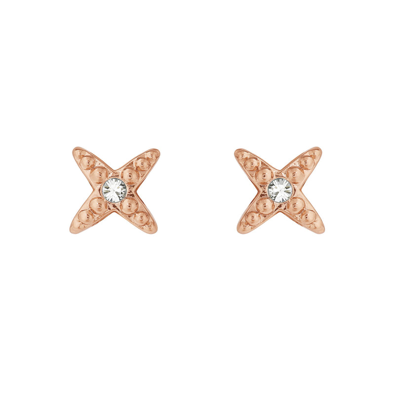Adore Elegance Mini 4 Point Star Earrings Detail