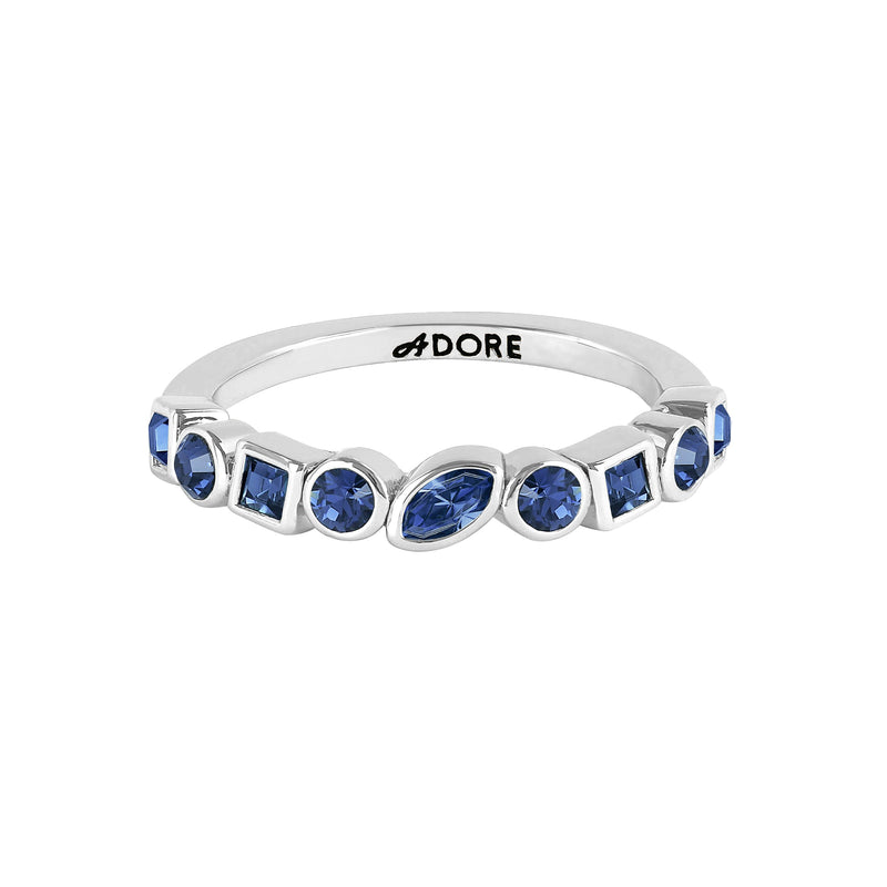 Adore Brilliance Mixed Crystal Eternity Ring Detail