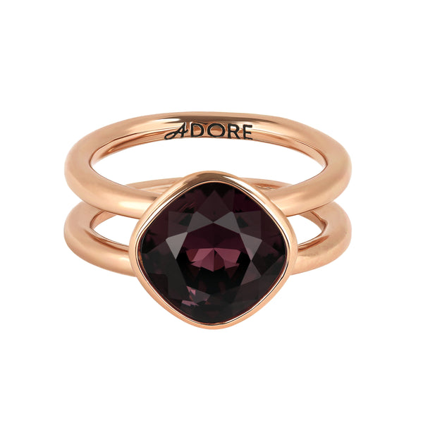 Adore Brilliance Soft Square Stone Cushion Ring Detail